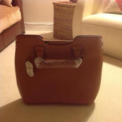 handbag tote tan