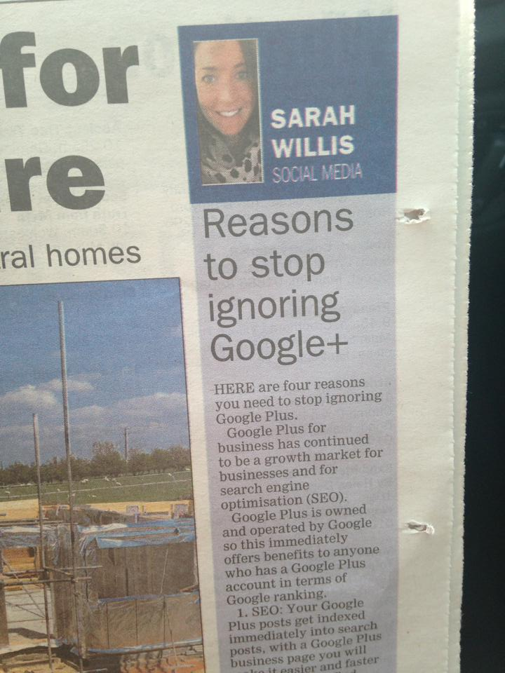 My new social media column in the Worcester News