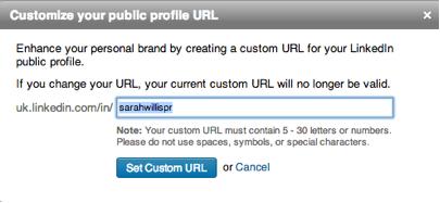 customize public profile