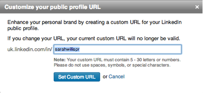 customize public profile